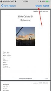 construction software app iNeoSyte - PDF view - Share