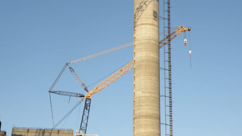 Free-Construction-Images-Power-Plant-During-Construction-Concrete-Stack